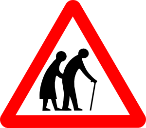old_folks roadsign