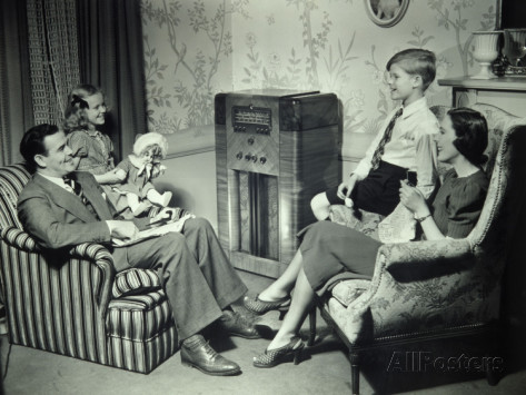 family-listening-to-radio